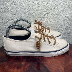 Sperry Seacoast Canvas Lace Slip On Sneakers